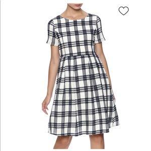 Orange Creek Fall Plaid Dress with pockets